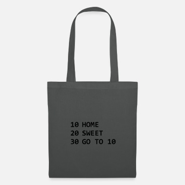 Script Home Sweet Go to 10 - Tote Bag