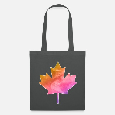 Canada Flag Maple maple leaf watercolor - Tote Bag