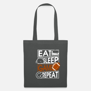 American Football Eat Sleep Game Repeat American Football Quaterback - Tas van stof