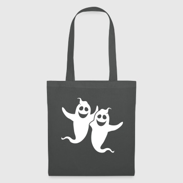 white 2 friends team couple party crew ghost geis - Tote Bag