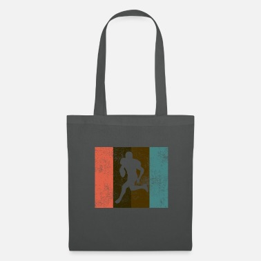 Rugby American football grunge vintage retro - Tote Bag