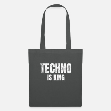Technologie Techno is king Raver Festival Electro Dance Music - Stoffbeutel