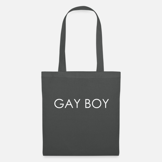 Pride Bags & Backpacks - GAY BOY - Gay Pride - Tote Bag graphite grey