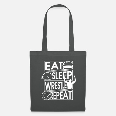Osten Eat Sleep Wrestle Repeat Wrestling Gift - Stoffbeutel