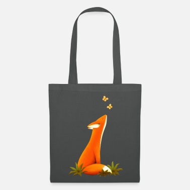 Animal Renard et papillons, animaux, animaux - Tote Bag
