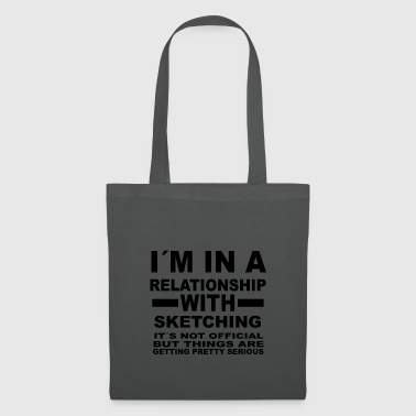 relationship with SKETCHING - Tote Bag