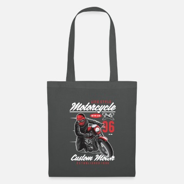 Motorsport Motorcycle Biker Motorsport Crossbike Chopper - Tote Bag