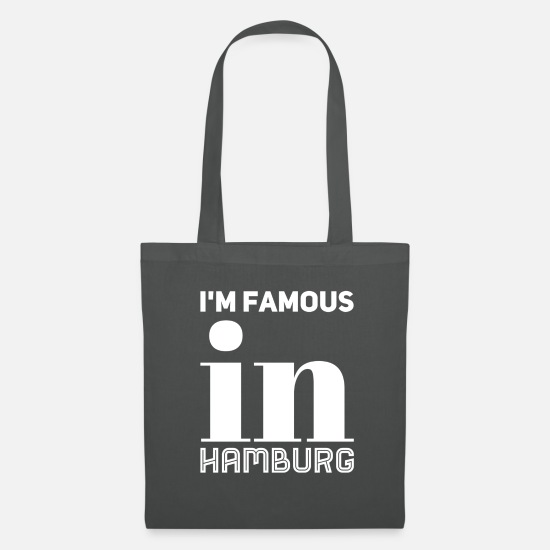Prominent Bags & Backpacks - white im famous in Hamburg - Tote Bag graphite grey