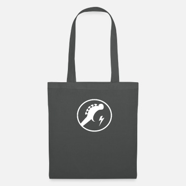 Marchingband Crescent guitar with lightning rock heavy metal shirt - Tote Bag