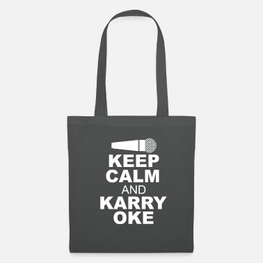 Keep Calm And Keep Calm and Karry Oke karaoke fans cantantes - Bolsa de tela