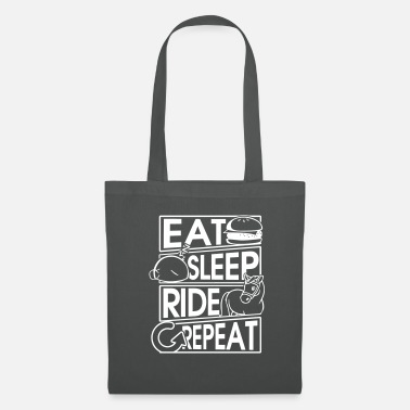 Jockey Eat Sleep Ride Repeat Pferd Horse Geschenk Gift - Stoffbeutel