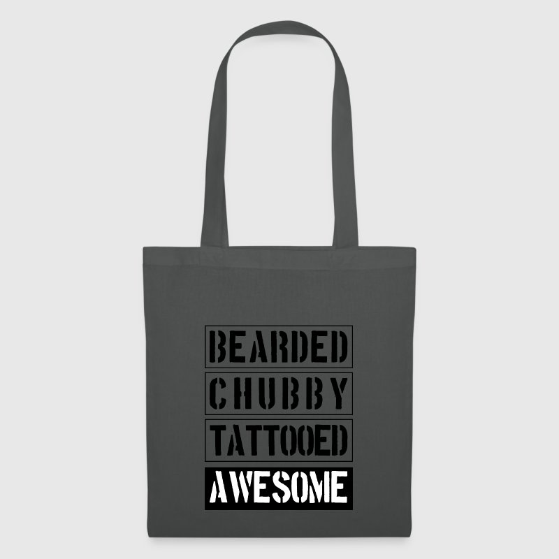 Bearded Chubby Tattooed Awesome - Tote Bag
