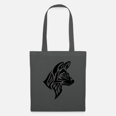 Spiral Tribal Painted Wolf - Tote Bag