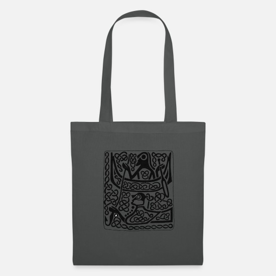 Archaeology Bags & Backpacks - Viking Hunter antique pattern - Tote Bag graphite grey