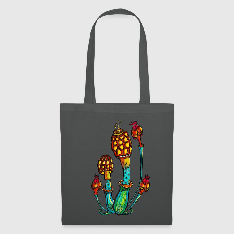 Magic Mushrooms, Psychedelic, Goa, Trance, Rave - Tote Bag