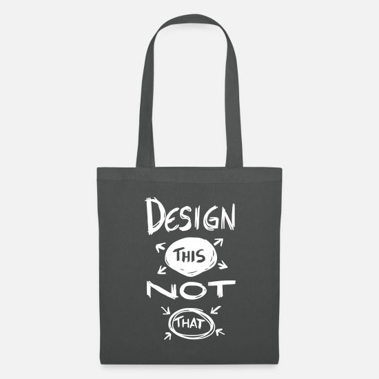 Typo Collection V2 Bags & Backpacks - Design This Not That - Tote Bag graphite grey