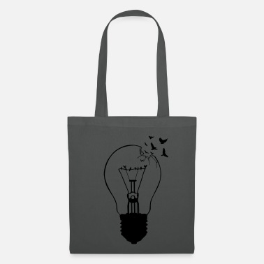 Revolution &amp Outlaw, breaking out of the old light bulb - Tote Bag