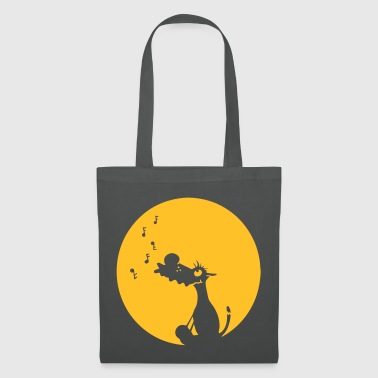 Singing grey wolf - Tote Bag