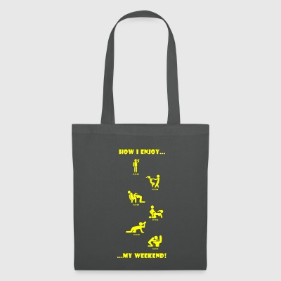 How I enjoy my weekend YELLOW - Tote Bag