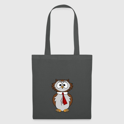Funny owl in comic style necktie Chic - Tote Bag