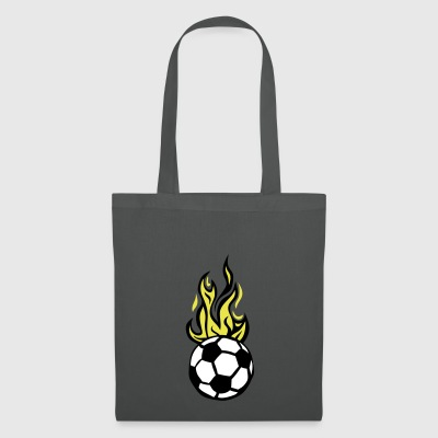 soccer ball soccer flame fire flame - Tote Bag