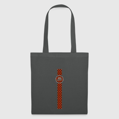 ska music orange black band design - Tote Bag