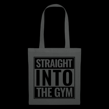 Straight Into The Gym Logo black - Tote Bag