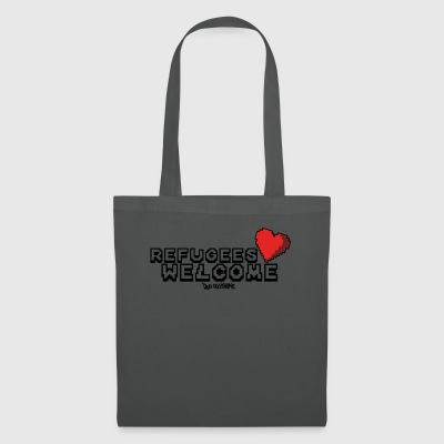 Refugees Welcome Pixel Design - Tote Bag