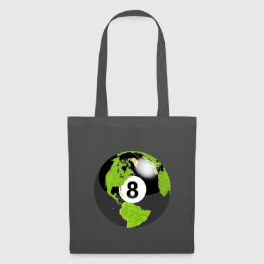 8-ball earth planet globe erde globus - Stoffbeutel