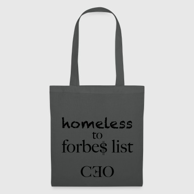 homeless to forbes list - Tote Bag