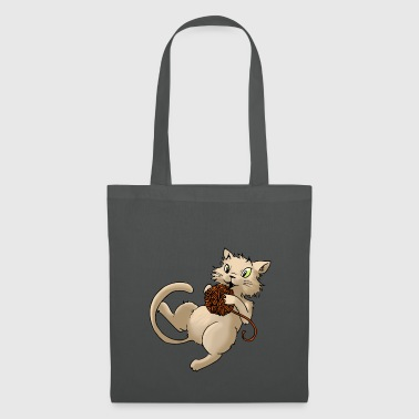 Cat wool ball of wool Kitty Animal Pets - Tote Bag