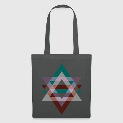 Triangle graphic violet green retro - Tote Bag