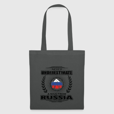 Never underestimate man Roots RUSSIA png - Tote Bag