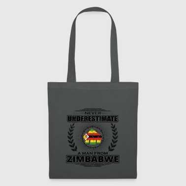 Never underestimate man Roots ZIMBABWE png - Tote Bag