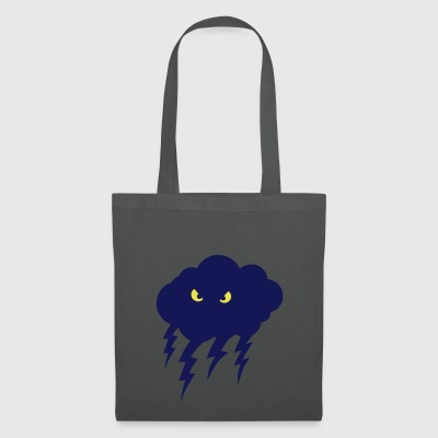 naughty eye bubble cloud eclair dark cloudy crazy - Tote Bag