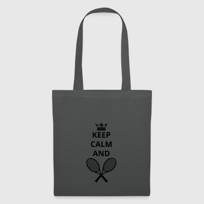 geschenk keep calm and TENNIS png - Stoffbeutel
