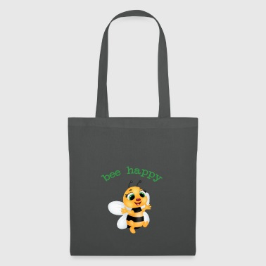 fleet bee, be happy - Tote Bag