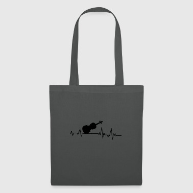 Heartbeat to musician T-shirt gift violin - Tote Bag