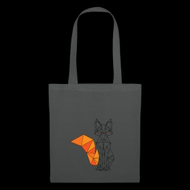 Sitting geometric fox planes 3 D gift - Tote Bag