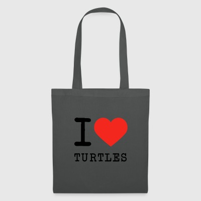I love turtles - Tote Bag