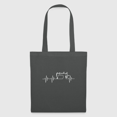 Couture - Couture - Machine à coudre - Heartbeat - Tote Bag