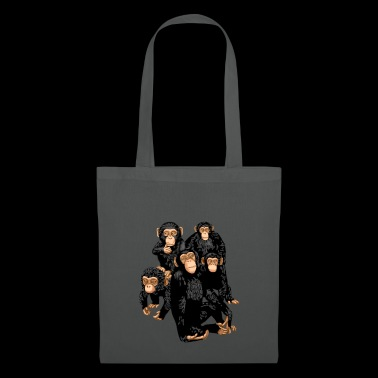 Camiseta de Five Cute Monkey - Funny Little Ape - Bolsa de tela