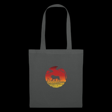 Silhouette lion gift Africa safari savanna zoo - Tote Bag
