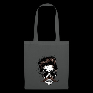 head of death mustache hipster crane skull mustache - Tote Bag