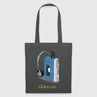 CLASSIC-WALKMAN design rétro, bleu - Tote Bag
