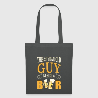21st Birthday The guy needs a beer - Tote Bag
