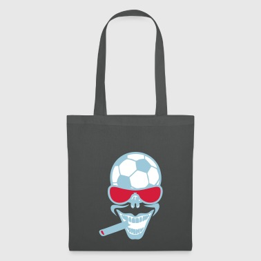 football soccer sourire cigard lunette t - Tote Bag