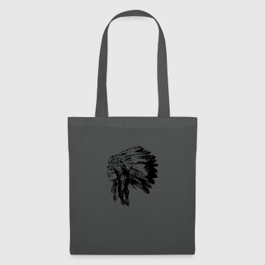 Indian face American Illustration - Tote Bag