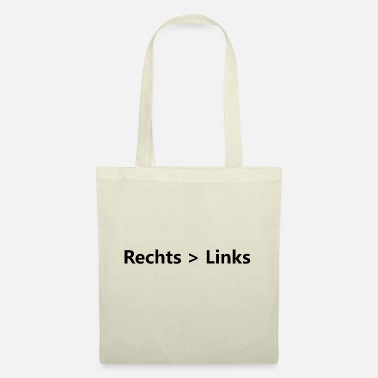 Links Tonen Rechts> Links - Stoffentas