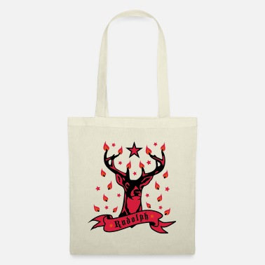 Red Deer Deer Rudolph 3c - Tote Bag